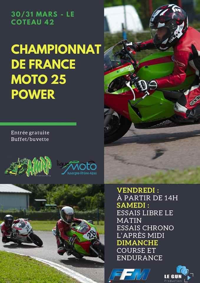 Calendrier 25 Power 2021 Championnat de France Moto 25 Power | FFMoto