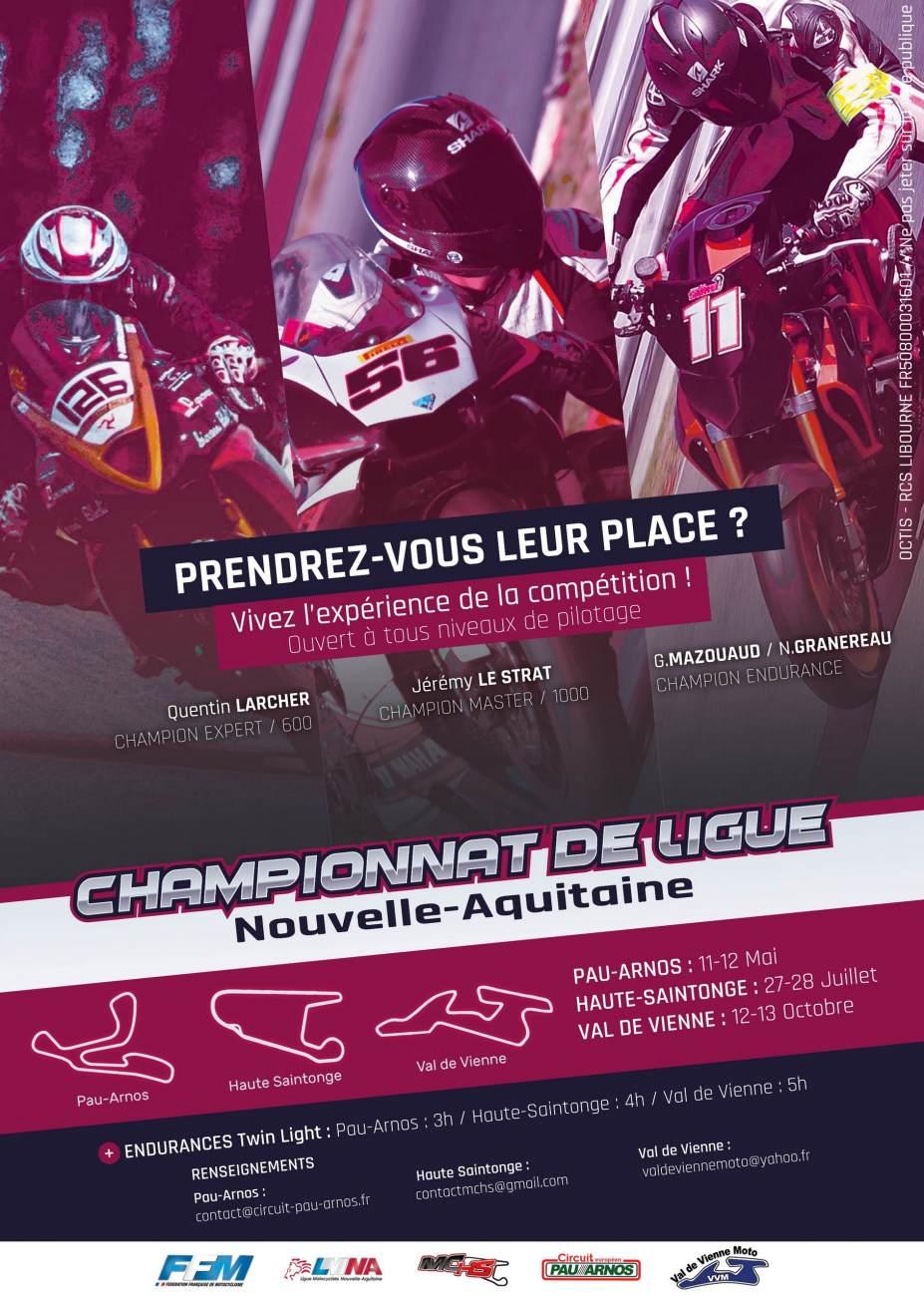 Circuit Val De Vienne Calendrier 2019.Championnat Vitesse De La Ligue Nouvelle Aquitaine Ffmoto